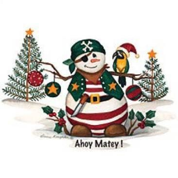 Christmas Pirate Snowman