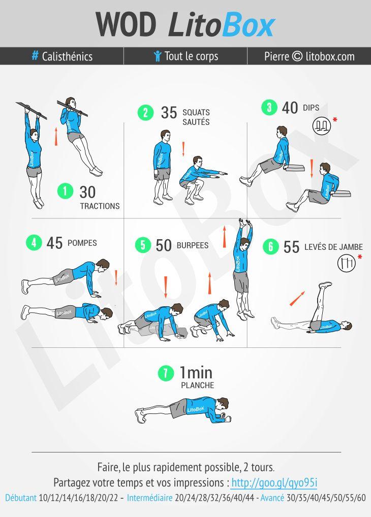 On attaque la semaine par cette séance de Street Workout réalisable en moins de 30 minutes qui va bien réveiller les muscles après le week-end ;) Si vous a