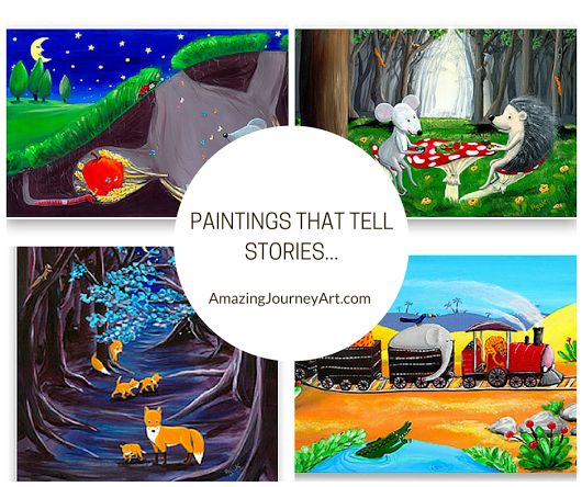 #AmazingJourneyArt presents you paintings that will inspire your emotions. A colourful and vibrant style you'll feel proud to display in your home.