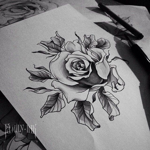 Рисунок для будущей татуировки. Желающие пишите Илье http://vk.com/dementiev_iliya #familyink #familyinktattoo #rose #rosetattoo #sketch #sketchtattoo #blackwork #blackworkers #blacktattooartist
