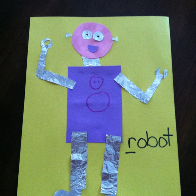 R is for robot craft | :: KIDS CRAFTS & PRESCHOOL IDEAS