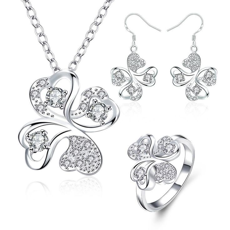 S035-C Fashion popular  silver plated jewelry sets for sale  NHKL6354-C