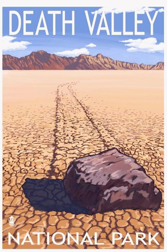 Sailing stone at Racetrack Playa, Death Valley National Park, CA
