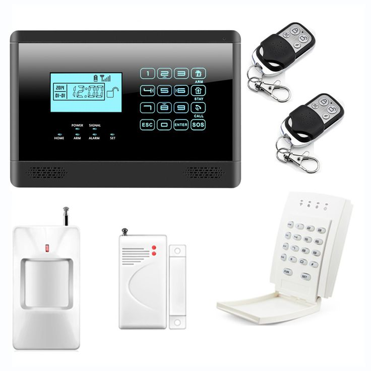 Alarm Mainframe Kits Wireless GSM SMS Home Emergency Alert Security Alarm System with Wireless Password Keypad, Touch Screen