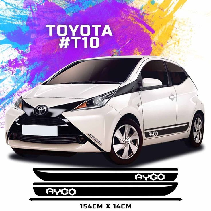 Toyota aygo side racing stripes decal graphics tuning car size 154 x 14cm