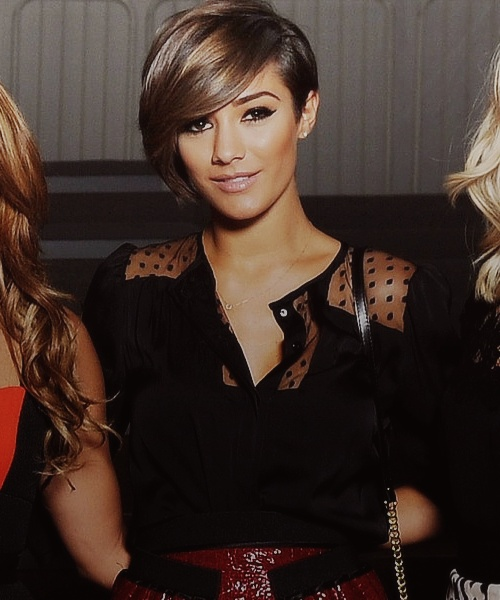 Frankie Sandford- I love her cut because it has such versatility, it can be styled so many different ways.