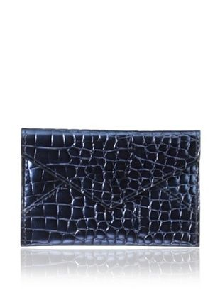 67% OFF AEON Women's Mini Envelope, Blue Metallic Croc