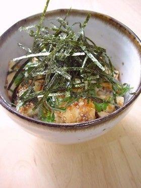 シソのせ豆腐ユッケ丼。