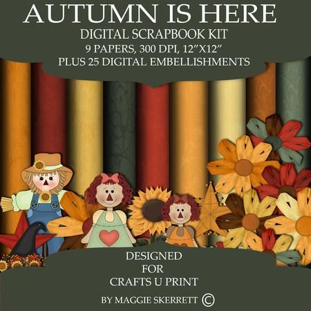 Autumn is here  on Craftsuprint - Add To Basket!