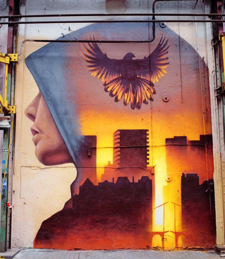 Amazing piece by Martin Travers in Amsterdam #streetart