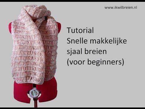 Snelle makkelijke sjaal breien, tutorial voor beginners - YouTube - nieuwe bol wol; gebruiken