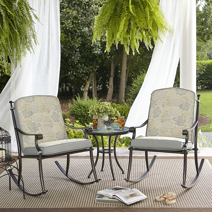 Kmart Patio Furniture Ideas Jaclyn Smith Bistros Amelia Terrace Chang E 3 Piece Bistro Set Balconies