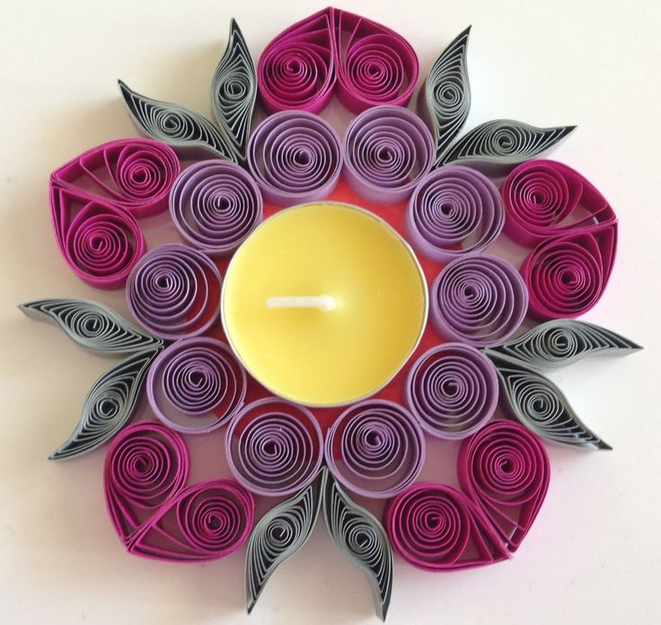 How to make Quilling Candle Holder