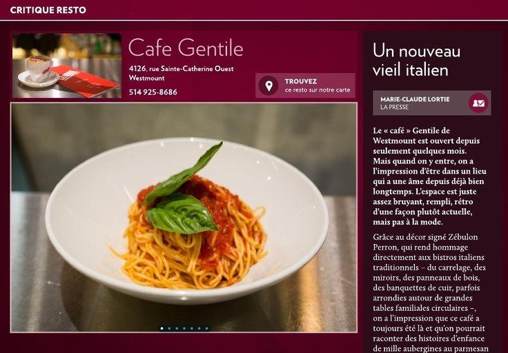 Cafe Gentile : un nouveau vieil italien - La Presse+
