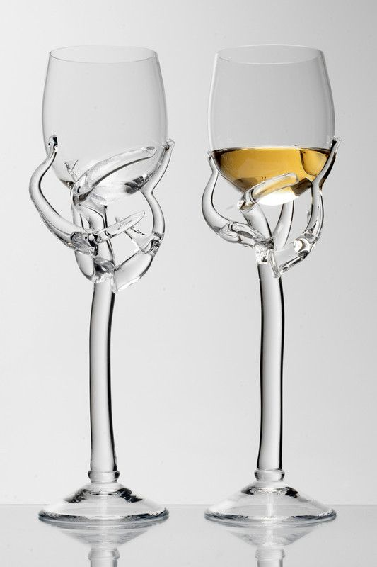 Barborka Wine glass by Borek Sipek. At the Hans Krug showroom in Charlotte, NC.