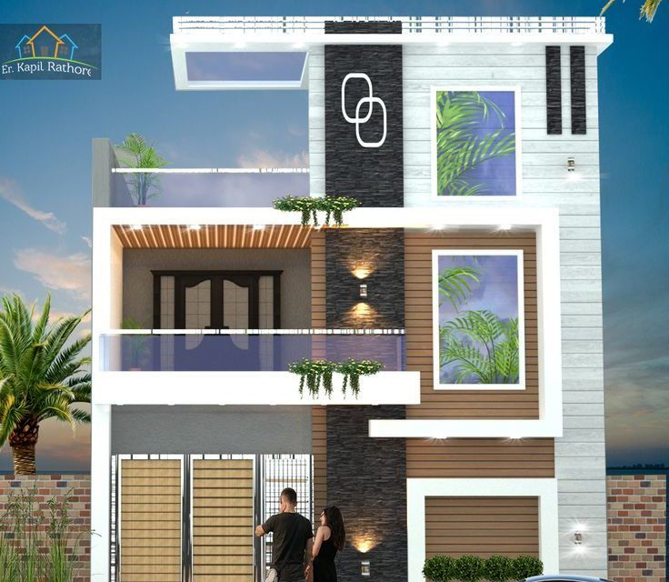 22 Ft Modern Elevation Home Decoration Ideas And Garde Ideas Small House Front Design House Front Design Duplex House Design