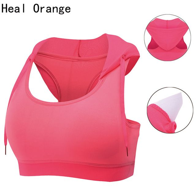 HEAL OEANGE Women's Yoga Shirt Sports Bra Padded Yoga Top Tank Running Shirt Ladies Sportswear Gym Shirt Women Yoga Clothing