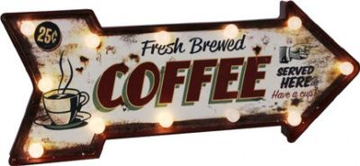 "Placca ""Coffee"" con led"