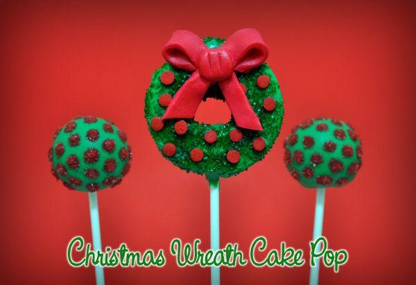 Wreath cake pop