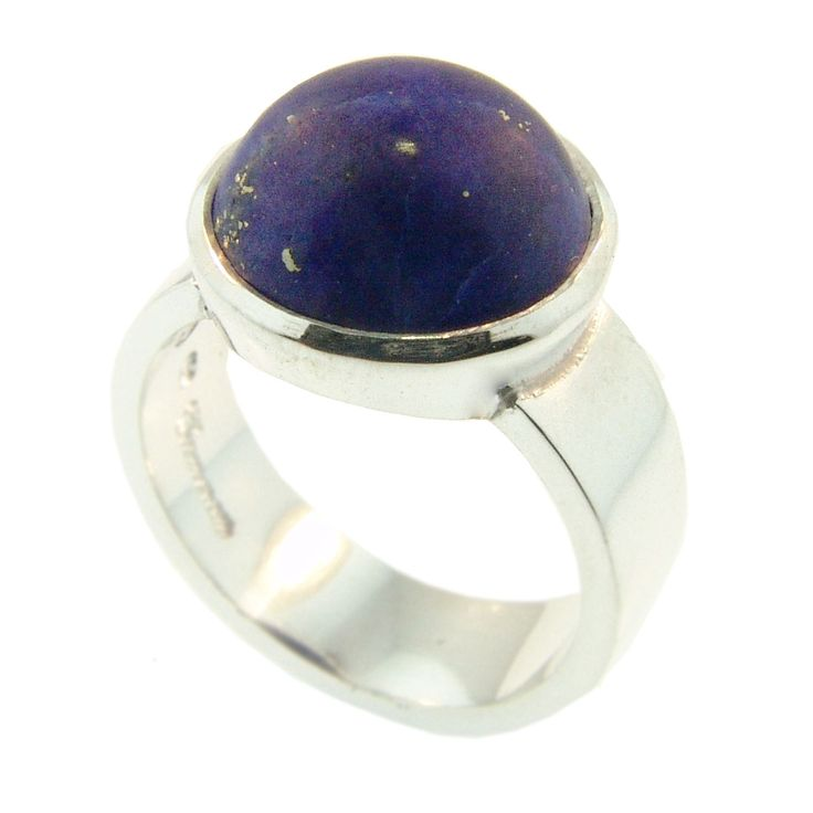 Sterling Silver & Lapis Lazuli Ring. Handmade at Cameron Jewellery by Sam Drummond. NZD$165.00