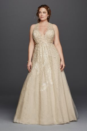 Melissa Sweet Deep V-Neck Wedding Dress - Davids Bridal