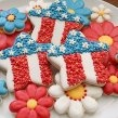 Patriotic Floral Star Cookies from Sugarbelle's post on 20+ ways to use a star cookie cutter...what an awesome collection.  Kudos to all the decorators!