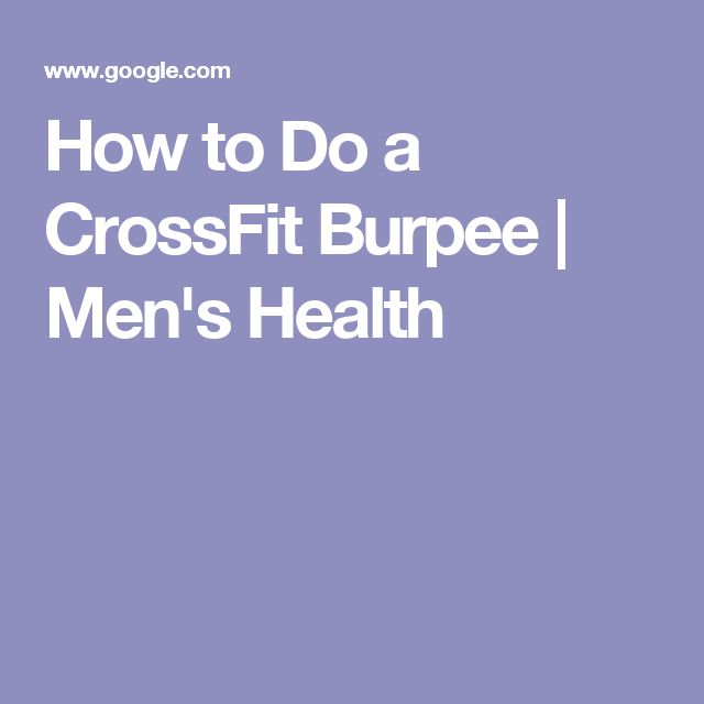 How to Do a CrossFit Burpee | Men's Health