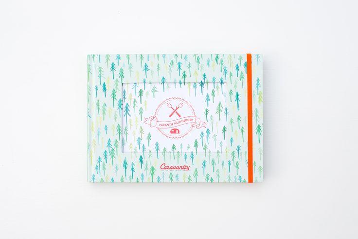 Mevrouw Knot illustratie voor cover Caravanity vakantieboek Notitieboek // Boek ontwerp Zilverblauw