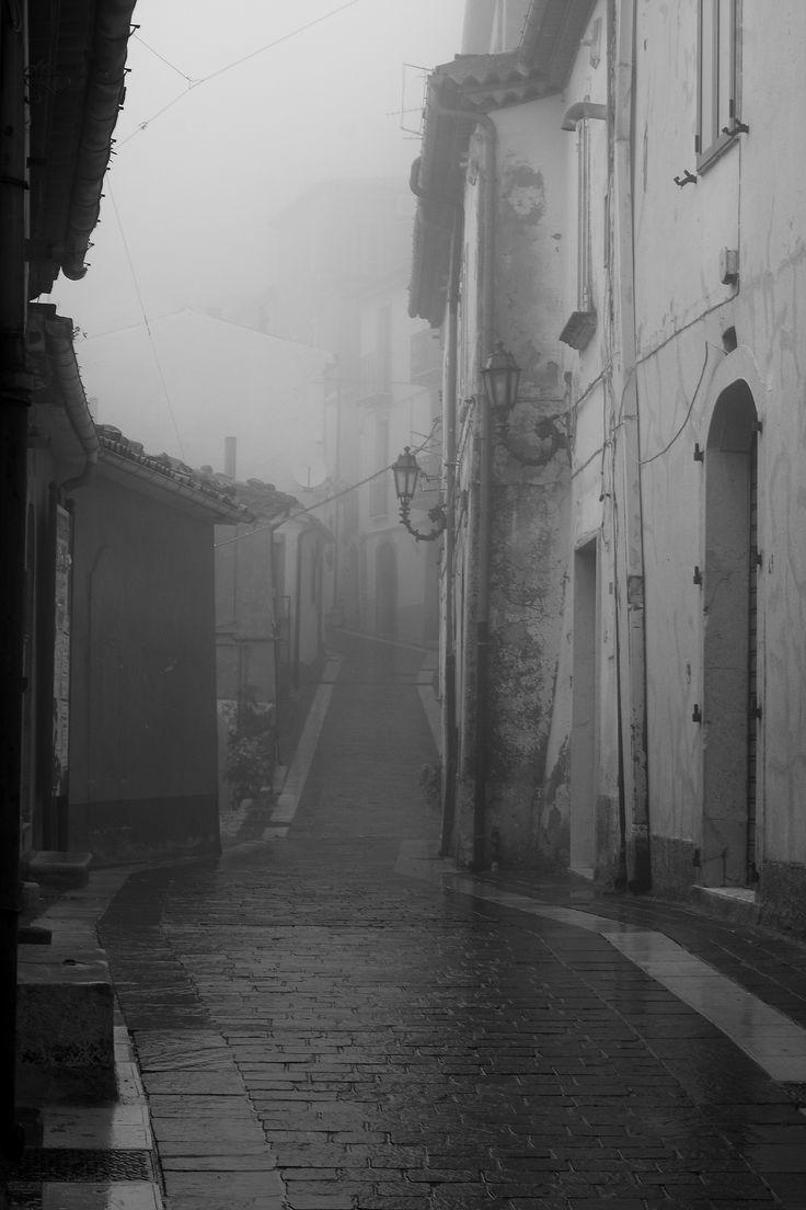 San Fele - Basilicata on a foggy day