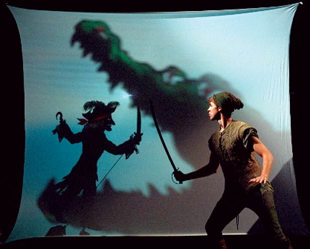 Digging the Croc being a shadow puppet... credit: the Children's Theatre Company from Minneapolis, USA, Italian shadow puppet artist, Fabrizio Montecchi and Scotland's own Visible Fictions. Platform, Glasgow