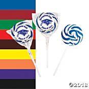 Personalized Graduation Swirl Lollipops