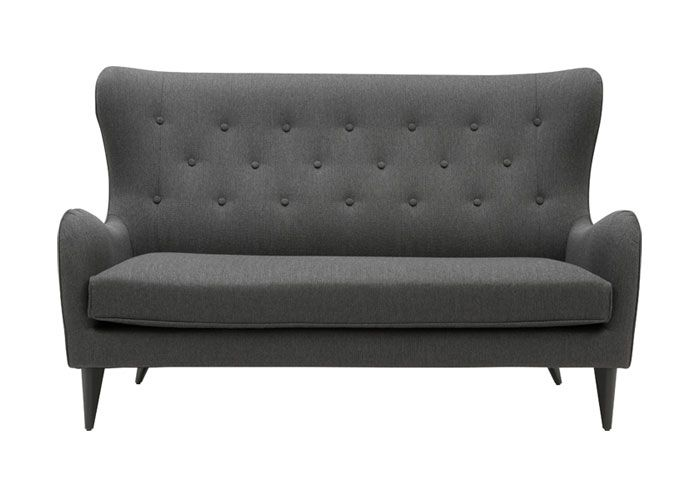 3 pers. sofa i grå stof.
