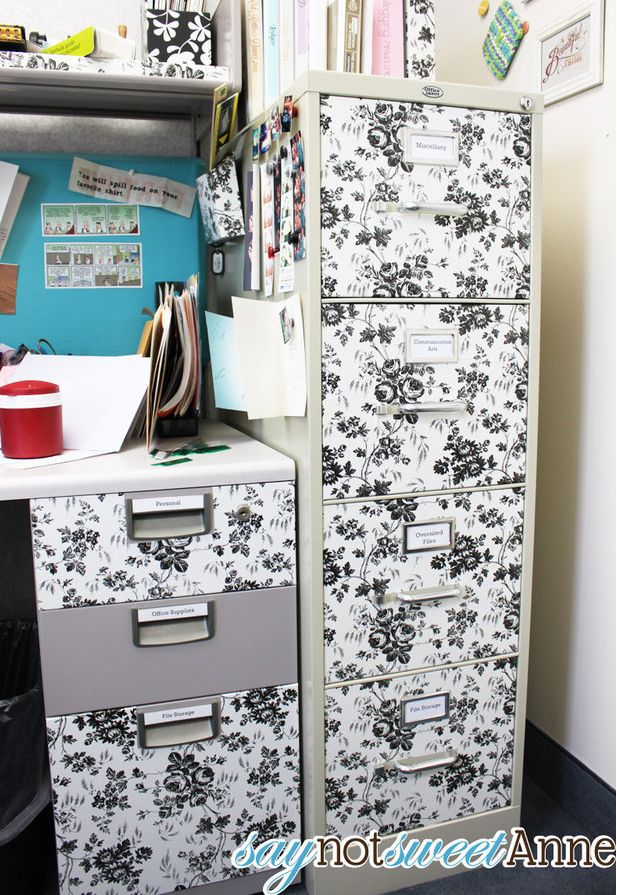 Contact paper to decorate cabinets