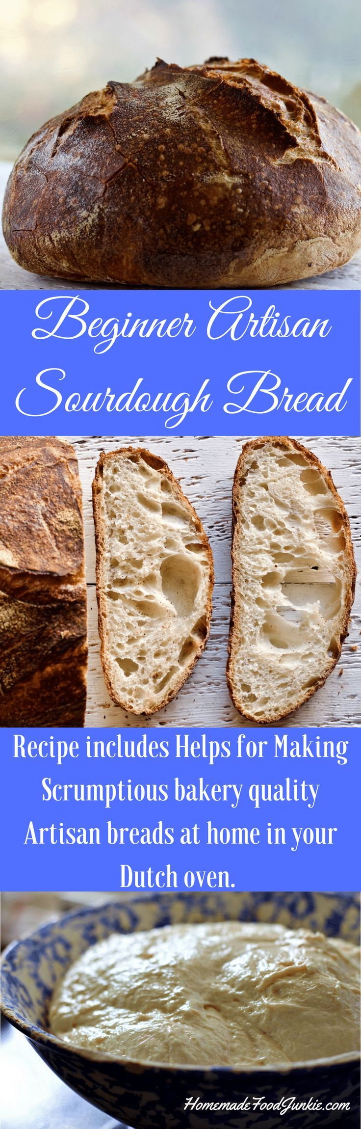 Beginner Artisan Sourdough Bread. You will never go back to store bought once you master this! This post includes complete instructions and resource links.#food #sourdough #sourdoughrecipe #sourdoughbread #artisanbread #crustybread