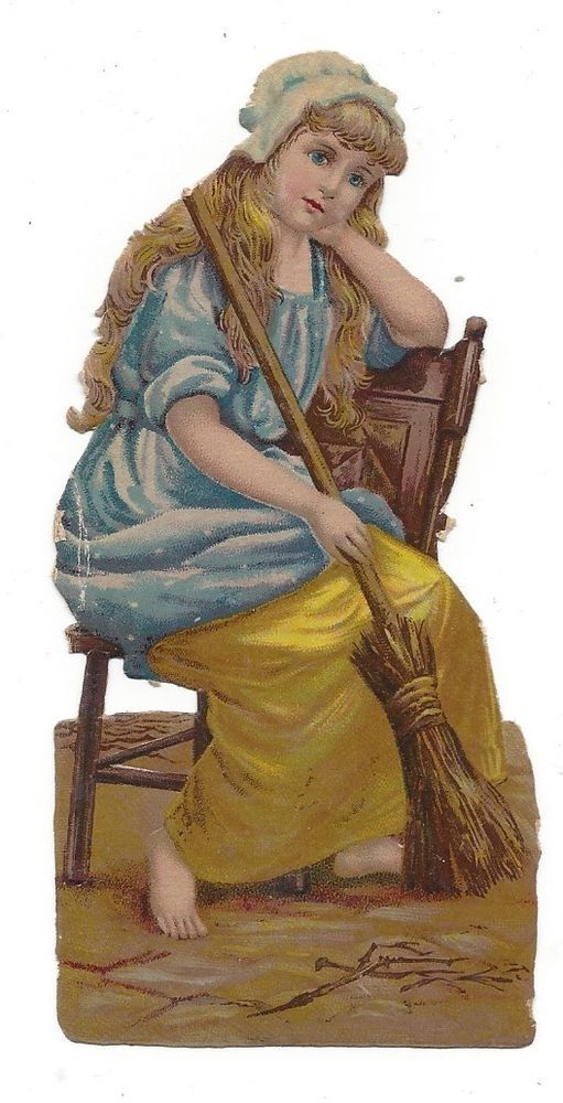 Victorian Die Cut Scrap Cinderella