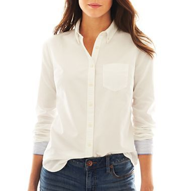 jcp™ Long-Sleeve Oxford Shirt - jcpenney