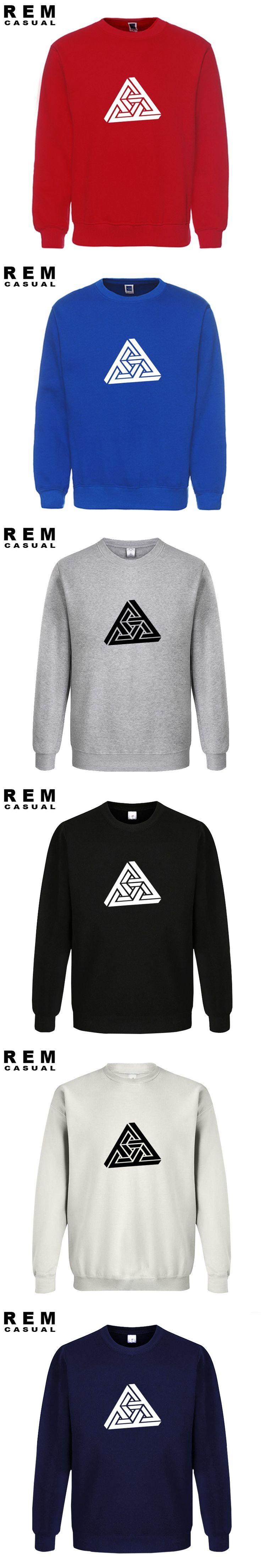 Necker cube Geometric funny 2016 new design men long sleeve homme Hoodies, Sweatshirts