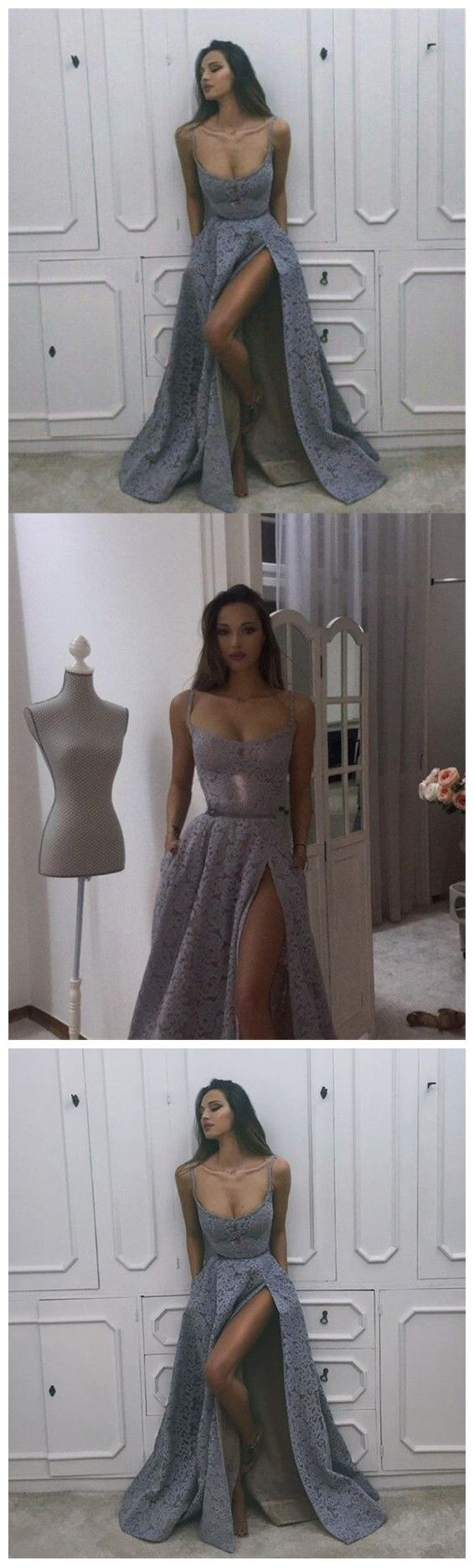 New Arrival Prom Dresses,Affordable Cheap Lace Modest Prom Dress, Prom Gowns, Fashion Popular Prom Dresses P0570 #shoppingonline #promdresses #longpromdresses #slitpromdresses #2018promdresses #2018newstyles #fashions #styles #hiprom #silvergraypromdress