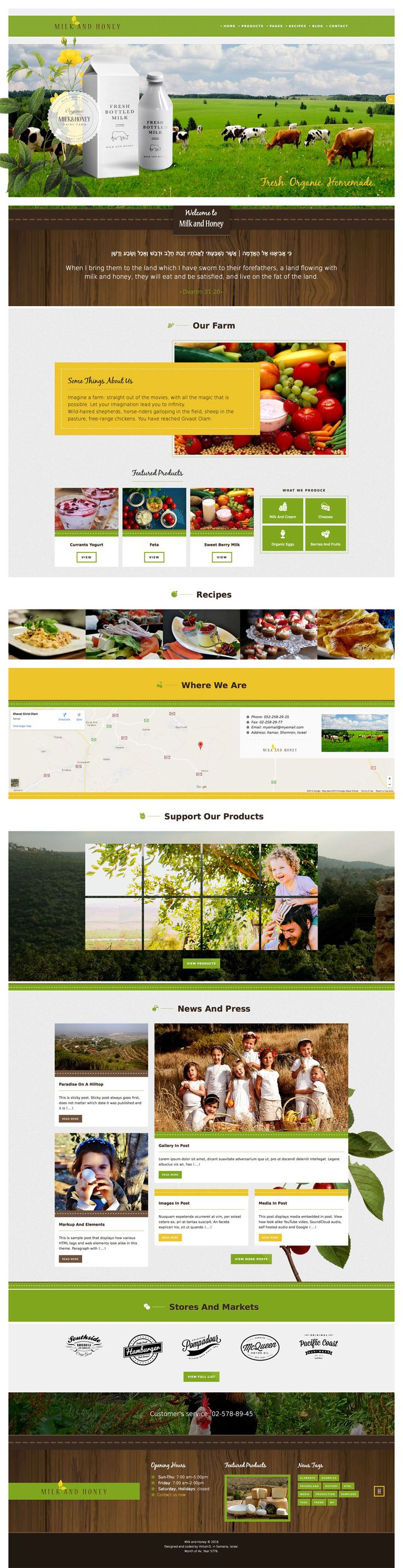Milk And Honey–WP Theme For Farmers and Agriculture Business • Download ➝ https://themeforest.net/item/milk-and-honeywp-theme-for-farmers-and-agriculture-business/17681403?ref=pxcr