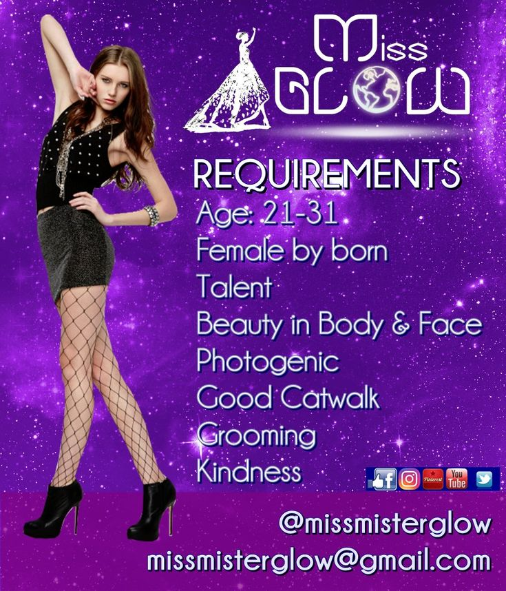 Miss Glow is an International beauty pageant. No height or marital status required! Welcome to the future! #MisterGlow #MissGlow #MissMisterGlow #InternationalBeautyPageant #Pageant #Miss #Mister #Misses #Pageantry #Glow #Model