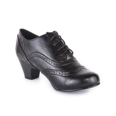Lilley & Skinner Womens Black Brogue Heeled Shoe | Shoe Zone