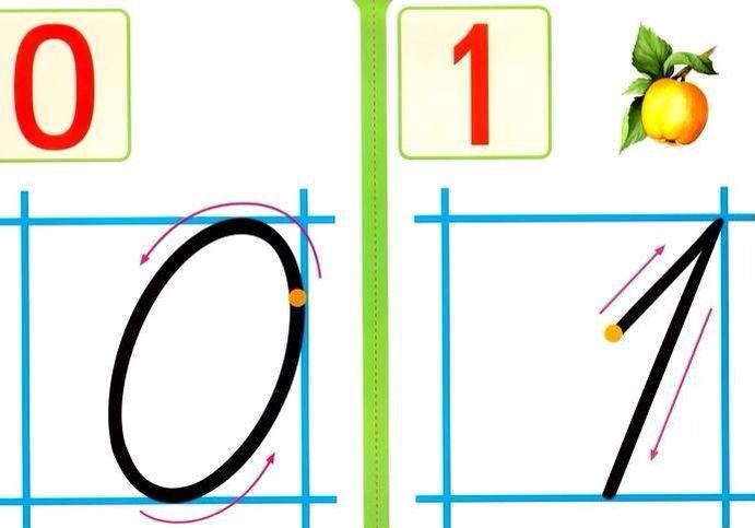Картинка как писать цифру, для