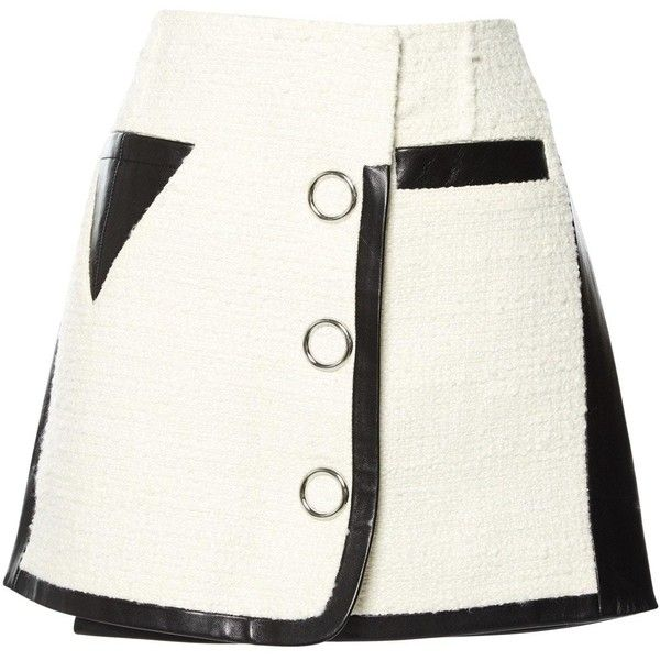 Pre-owned Alexander Wang Mini Skirt (6.148.555 VND) ❤ liked on Polyvore featuring skirts, mini skirts, bottoms, white, women clothing skirts, mini skirt, alexander wang, short white skirt, white mini skirt and short skirts