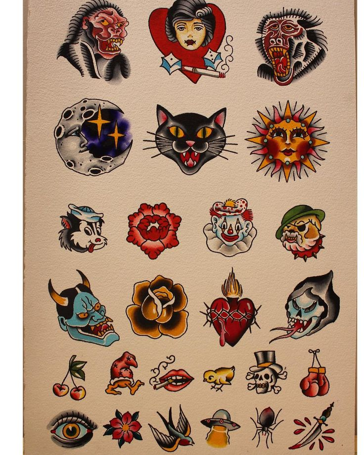 We have a sheet a flash ready for Friday the 13th for anyone looking to get a lucky tattoo! Prices are $200, $150, and $80. First come first served all day!