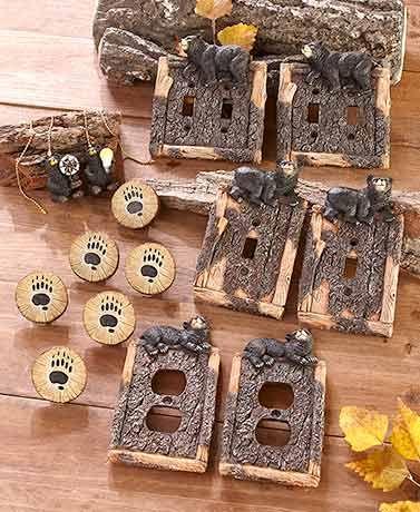 Black Bear Decorative Hardware