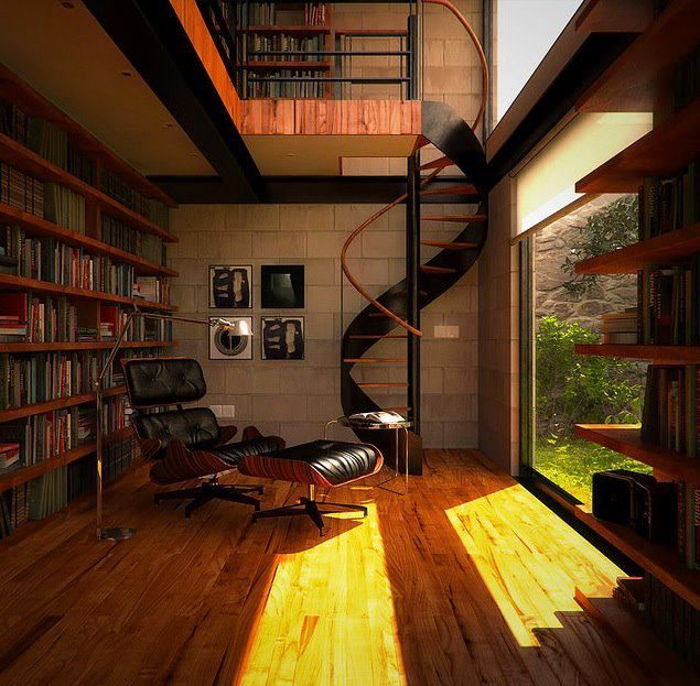 What a relaxing reading room!!