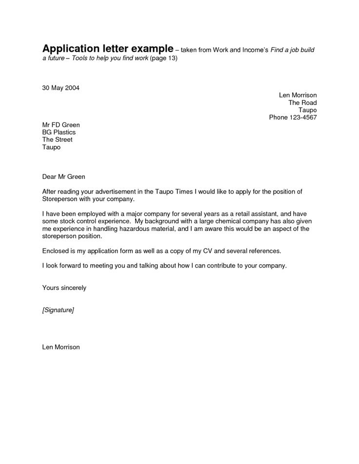 Career Change To Florist Cover Letter