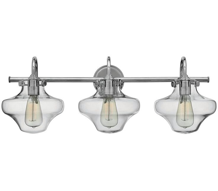 Blown Glass Vanity Light : Hinkley 50031CM, Congress Blown Glass Wall Vanity Lighting, 3 Light, Chrome Kid, Mars and Vintage
