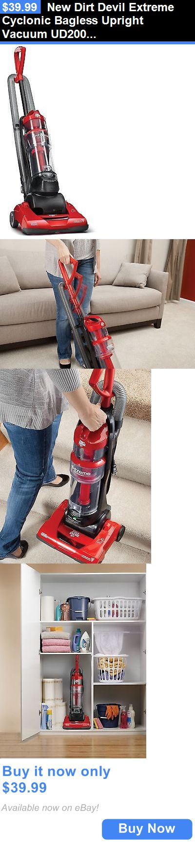 household items: New Dirt Devil Extreme Cyclonic Bagless Upright Vacuum Ud20010 BUY IT NOW ONLY: $39.99