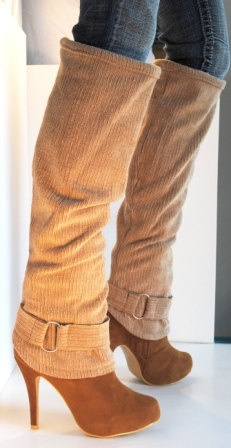 Custom Boots with Corduroy Gaiters by LAGaitor on Etsy, $72.00